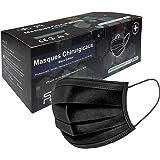 5RMED 50 Schwarze Chirurgische Op Masken [Black Edition] - EN14683 TYP IIR CE Schwarze chirurgische Einwegmasken Medizinisch