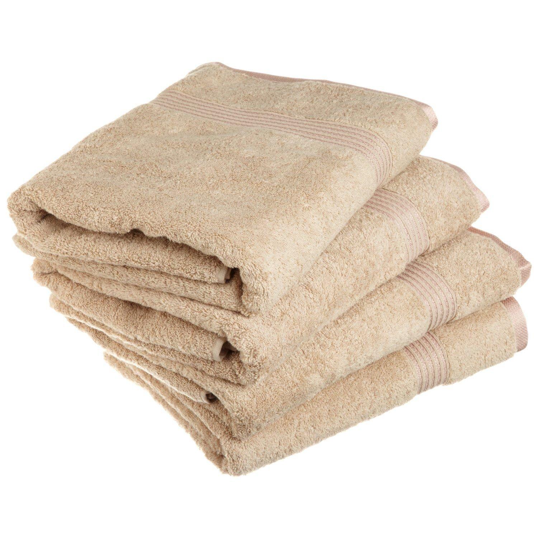 Superior - Set di asciugamani da bagno, cotone egiziano, toast, 4 pezzi