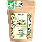 BIORGAIA - CAFE GRAIN BIO - Café en Grains 1kg, 100% Arabica [Bresil, Mexique, Perou] Produit Issu de l'Agriculture Biologiqu