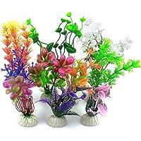 BURAQ Aquarium Plants Fish Tank Decorations Artificial Aquatic Plants Realistic Plastic Aquarium Plants Accessories and…