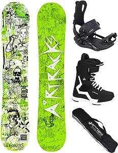 Eight Snowboard Wide Hybrid Rocker 150 155 160 164 cm Bindung Master Fastec SB Bag Airtracks Snowboard Set