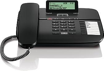 Gigaset DA810A Telefon - Schnurgebundes Telefon/Schnurtelefon - Anrufbeantworter/Display - Freisprechen - Stummschaltung - Mute/Analog Telefon - schwarz