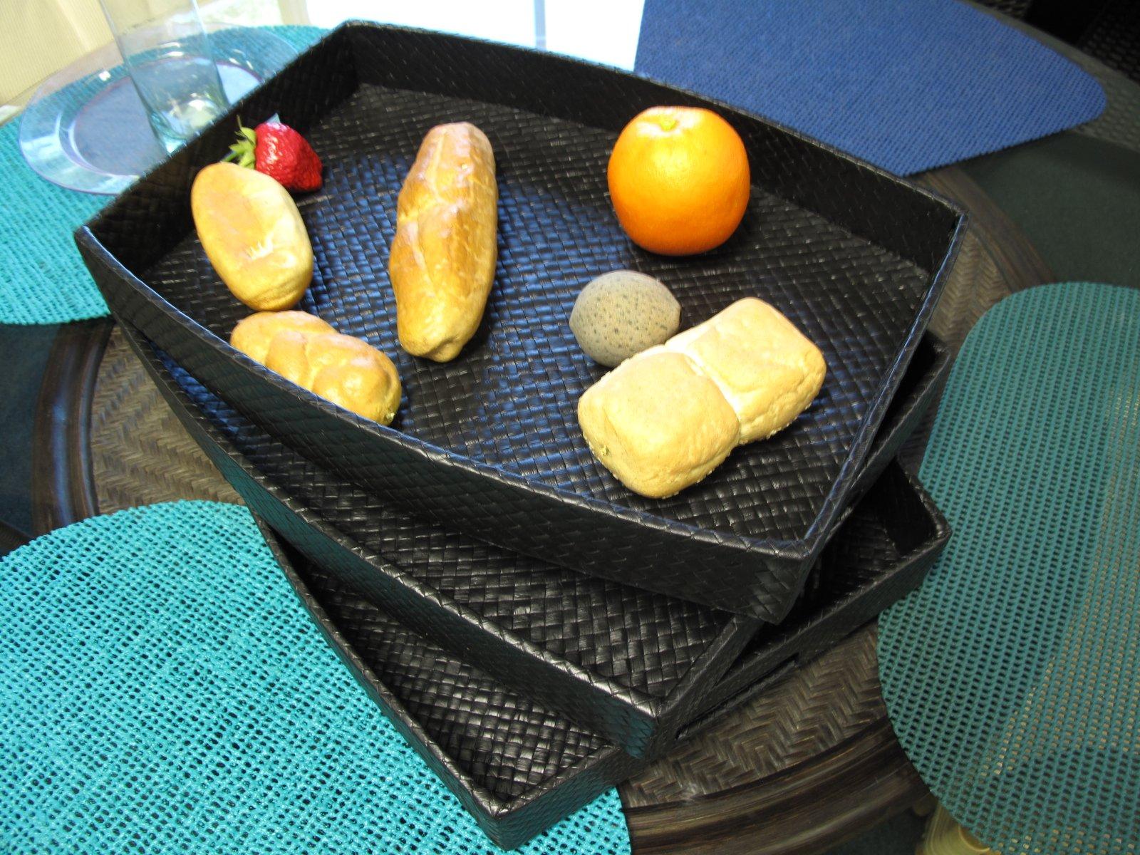 Set of 3 Pandan Serving Trays by urbandesignfurnishings.com