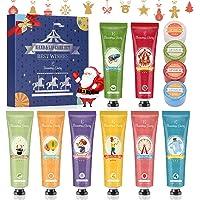 Handcreme Weihnachtsgeschenkset, Lippenbalsam Set, Geschenkset für Frauen Eleanore's Diary 8 PCS Fragrance Hand Creme…