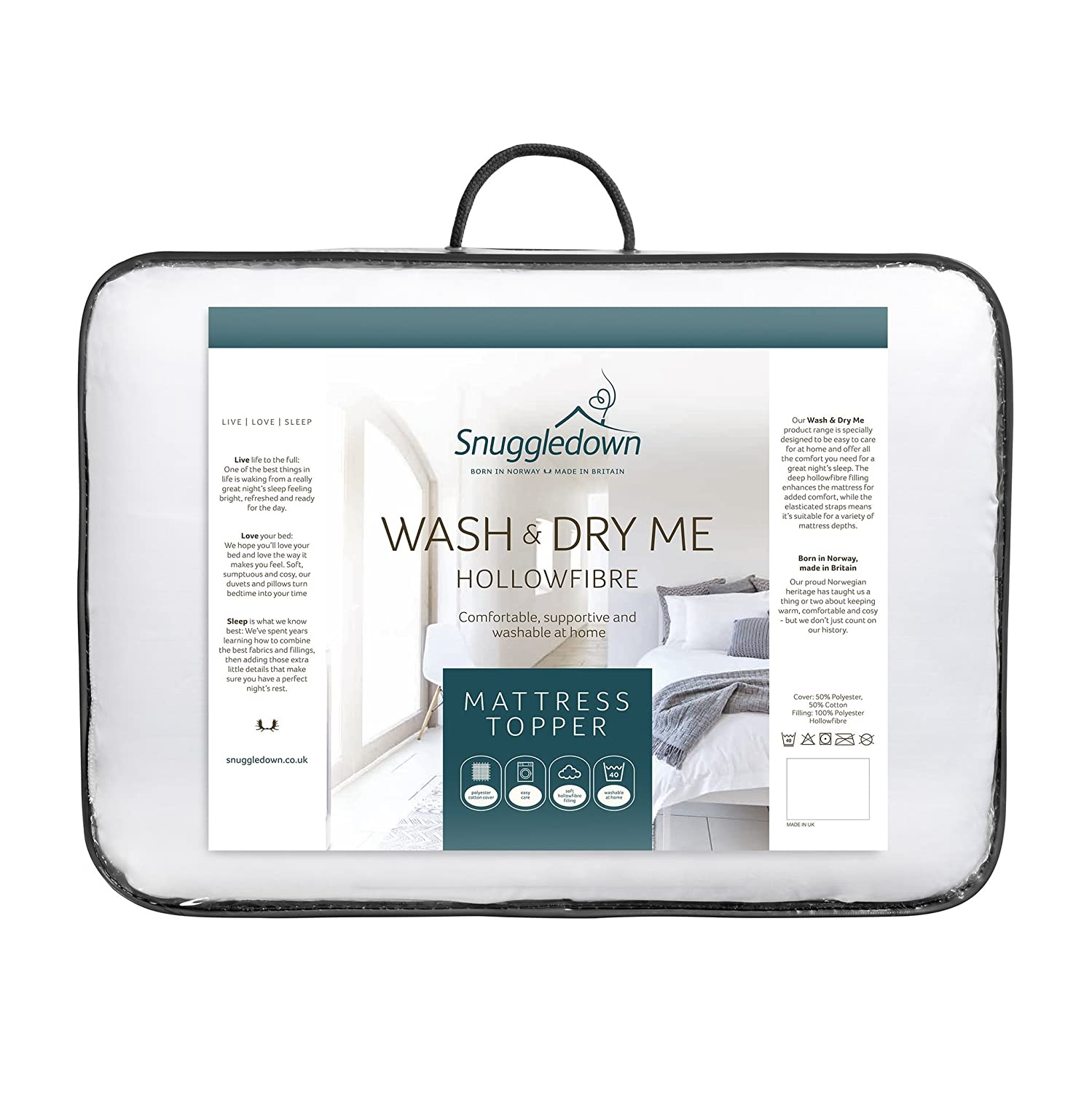 Snuggledown Wash and Dry Me Mattress Protector, King: Amazon.co.uk: Kitchen  & Home