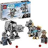 LEGO 75298 Star Wars Microfighters: AT-AT vs. Tauntaun Juguete de construcción con Mini Figura de Luke Skywalker y Caminante