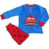 Disney - Pijama infantil Cars de invierno de forro polar Coral en Serafino con muñequeras, 3/8 años - 7435 turquesa 8 años