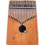 Flybiz Kalimba 17 touches Piano à pouce, Percussion à doigt en acajou africain, piano à doigt musical Kalimbas pour enfants,