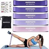 Panathletic Träningsband, Set med 5 Band - 5 Motståndsnivåer, Träningsguide, E-Bok, Förvaringsfodral – 5 st. elastiska fitnes