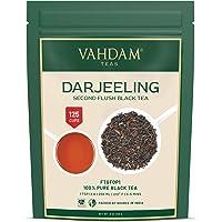 VAHDAM, foglie di tè nere Darjeeling dall'Himalaya - 255 grammi (120+ tazze), 100% puro certificato Darjeeling non…