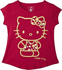 Kidsville Girls' Plain Regular Fit T-Shirt