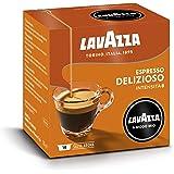 Lavazza A Modo Mio Delizioso, Cápsulas Monodosis de Café Molido, 100% Arábica, Paquete de 16 Cápsulas