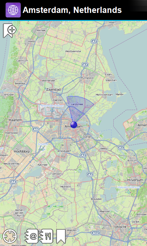 Amsterdam, Niederlande Offline-Karte - Smart Sulutions