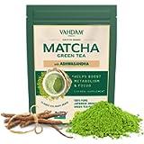 VAHDAM, Tè Verde Matcha con Ashwagandha   100 % PURO TÈ MATCHA BIOLOGICO   Matcha a Basso Contenuto Calorico con Spezie…