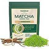 VAHDAM, Ashwagandha Matcha Grüntee | 100 % BIO REINER JAPANISCHER MATCHA | Kalorienarmer Matcha mit Gewürzen | Keto freundlic