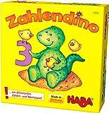 Haba 4928 - Zahlendino Dinostarkes Zahlen- und Memospiel, für 1-4 Kinder von 3-8 Jahren |Zum Zahlen und Mengen lernen…