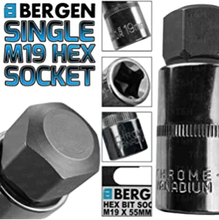 "19mm M19 x 78mm 1//2/"" Drive Extra Long Impacted Allen hex Key Socket"