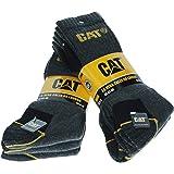 6|9|12|24 Pares Calcetines CAT CATPERILLAR de trabajo para hombres, reforzados en el talón y la punta, excelente calidad de A