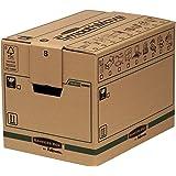 Caisses de Déménagement,Carton Double Epaisseur pour Usage Intensif SmoothMove avec Poignées-Montage sans Adhésif, Système d'