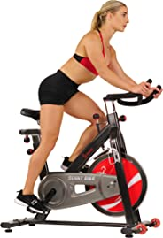 Sunny Health & Fitness Unisex Adult SF-B1002C Chain Drive Indoor Cycling Bike - Black, One Size