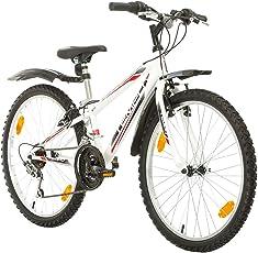 24 Zoll, CoollooK, TEMPO, Jugend Fahrrad,Mountainbike MTB,hardtail, Rahmen 28 cm,18-GANG, Weiss