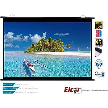 "ELCOR Ultra HD and 3D Map Type Projector Screen, 4x6ft-84-inch Diagonal in 4:03 Aspect Ratio (EL-84""-MT-PRE)"