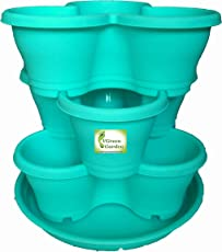 VGreen Big Stack A Flower Pots Set of 4 ( 3 Pot + 1 Tray )