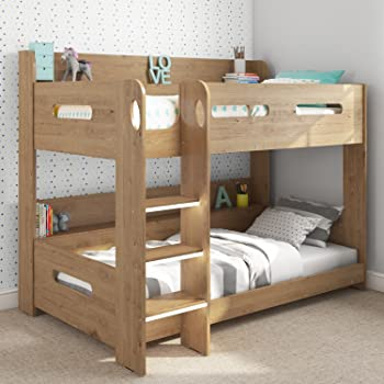 Julian Bowen Domino Bunk Bed Single White Maple Finish Amazon Co