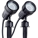 B.K.Licht LED tuinspotset van 2 incl. 2x3W GU10, grondpennen, padverlichting, gazonverlichting, tuinverlichting, tuinspit, pl