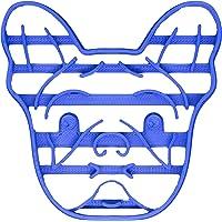 PlasticJewels - Stampo formina tagliabiscotti a forma di faccia di Bulldog Francese