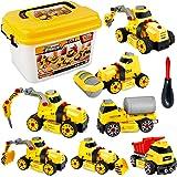 Sanlebi Macchina da Assemblare Camion Giocattolo Giochi Costruzioni 7 in 1 con Scatola di Immagazzinaggio per Bambini 4 5 6 7