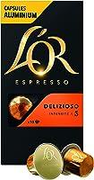 L'Or Espresso Café Delizioso - Intensité 5 - 50 Capsules en Aluminium Compatibles avec les Machines Nespresso®* (Lot de 5X10 capsules)