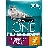 Purina ONE Urinary Care met Kip kattenbrokken - kattenvoer ter ondersteuning van gezonde urinewegen 800g - 4 dozen (3,2kg), 1
