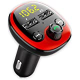 CRUST Car Bluetooth Device with Call Receiver for Music System, FM Transmitter for Hands Free Calls & Music Streaming…