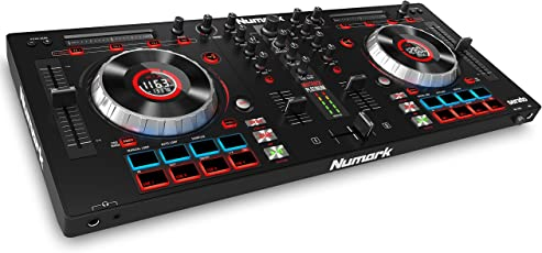 Numark MixTrack Platinum 2-Deck All-in-One DJ Controller mit Jogwheel Display und 24-Bit Audio Ausgabe inkl. Serato Intro und Prime Loops Remix Tool Kit
