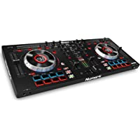 Numark Mixtrack Platinum All-In-One 4-Deck DJ Controller mit LCD Displays, 5 Zoll Touch - Jog Wheels, Multifunktions - Touch Strip und 24-bit Audio Interface, Serato DJ Intro, Prime Loops Remix Kit