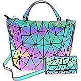 c7518d8e19fe0 HotOne Scherbe Gitter Design Geometrische Tasche PU-Leder einzigartige  Geldbörsen und Handtaschen