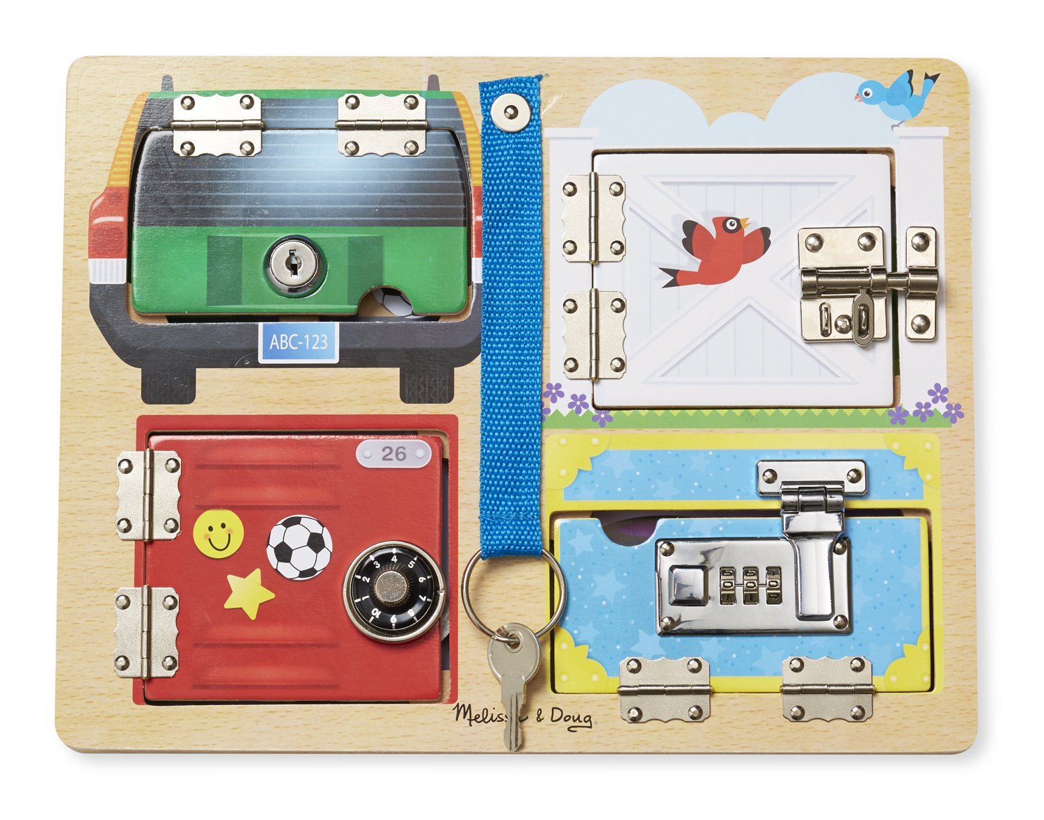 Melissa And Doug Retro Kitchen Melissa Doug 19540 Lock And Latch Board With 3 Pretend Keys For
