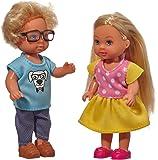 Simba 105737113 105737113-Evi Love Puppe mit Freund, Mehrfarbig