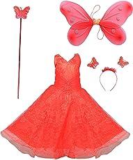 ahhaaaa Blended Baby Girl's Angel Pari Dress/Christmas Gown