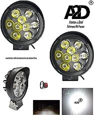 A2D 9 LED 6000k Cree LED Cap Shade Top Bike Fog Light Lamp Assembly White Mini with Switch Set of 2-Yamaha Saluto 125