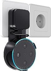 Sameants Wandhalterung Halterung Ständer für Echo Dot 2. Generation Steckdose Platzsparende Lösung für Smart Home Lautsprecher Ohne Unordentliche Kabel Oder Schrauben mit USB Kabel, Schwarz