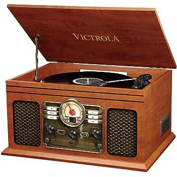 Victrola Classic Chaîne Stéréo 6-in-1 Platine Vinyle - Acajou