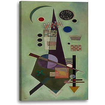Wassily Kandinsky 1934 Anmutiger Aufstieg Lein-Wand-Bild Kunstdruck