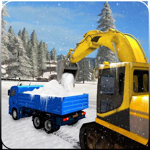 Schneefräse, Bagger Kran LKW Fahrer