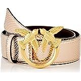 Pinko Lovelink Crumpled Belt Pelle S Cinturn para Mujer