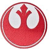Super6props Star Wars Rebel Alliance Red Squadron Ricamato Il Ferro sulla Toppa (75mm)