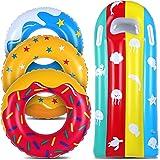 Soleliwei Anneau de natation g/éant homard gonflable pour piscine et adulte