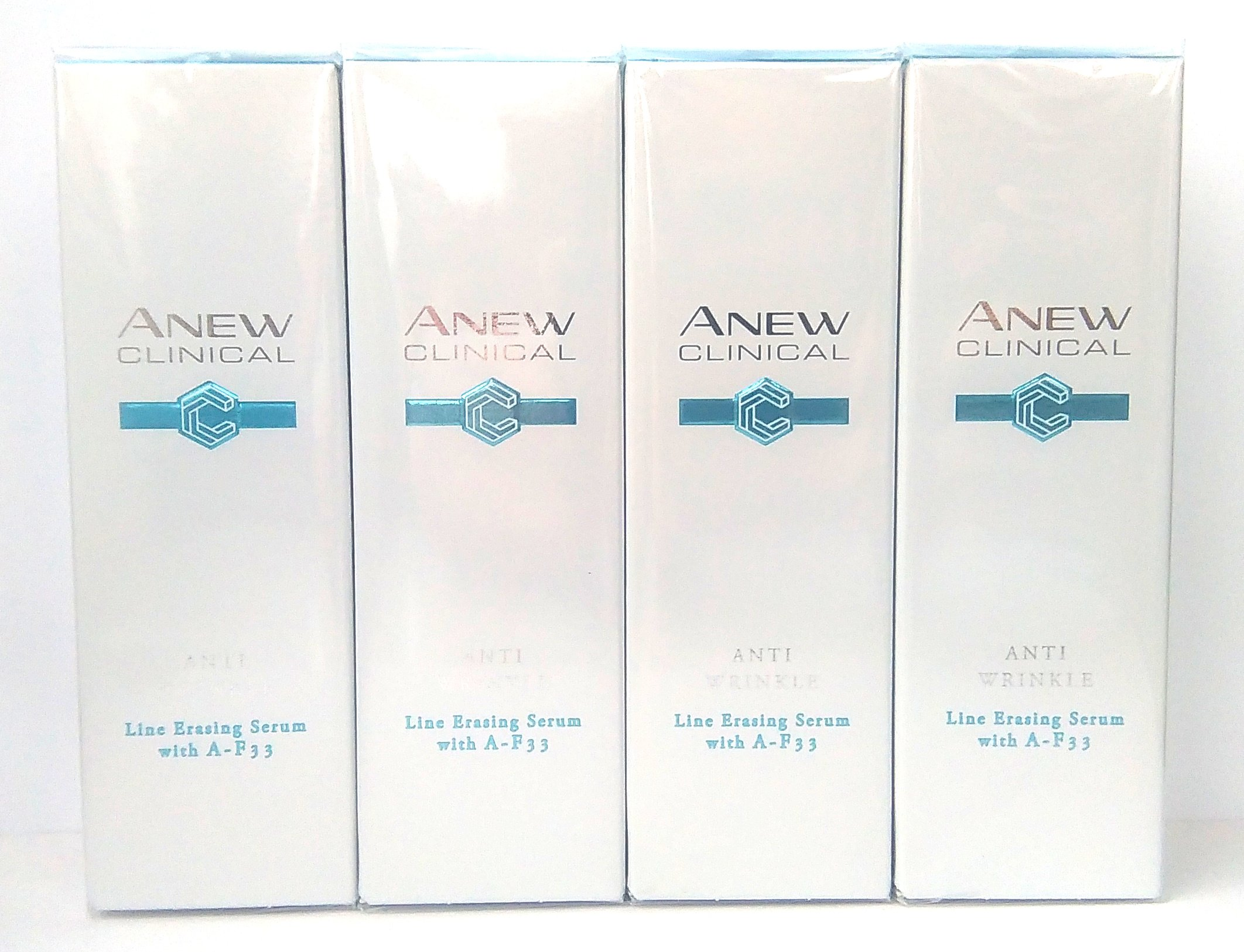4 x AVON Anew Clinical Anti Wrinkle Sérum Difuminador De Lineas Con A-F33 30ml – 1.0oz Set