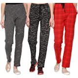 SHAUN Women's Slim Fit Trackpants (Pack of 3)